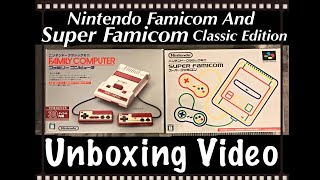 Nintendo [ Famicom AND Super Famicom ( Japanese Versions ) Classic Edition ] Unboxing Video - MrMaD