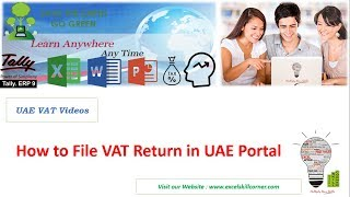 How to File Vat Return in UAE Step by Step in FTA Portal