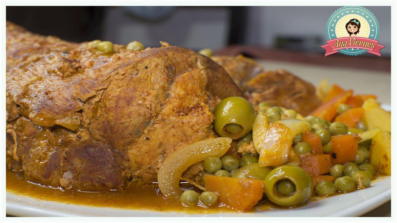 Lomo de cerdo pinchado receta de cocina f cil receta navide a youtube - Ana cocina facil ...