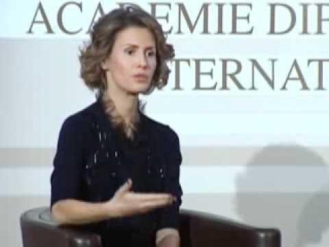 Syria's First Lady Asma Al Assad In Paris Part 4 -2010(Inetrnational Diplomatic Academy)