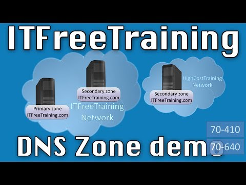 Windows DNS Zone Demonstration