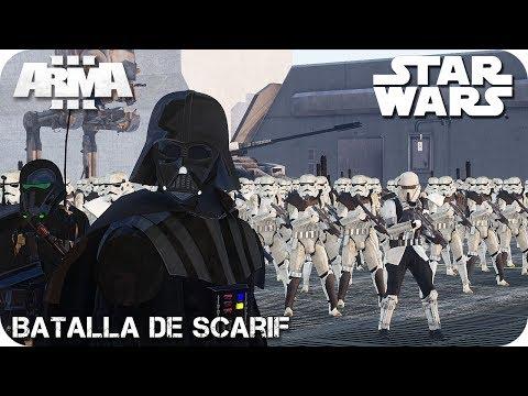 MISIÓN COOPERATIVA   STAR WARS - BATALLA DE SCARIF   ArmA 3 Gameplay Español (1440p60 HD)
