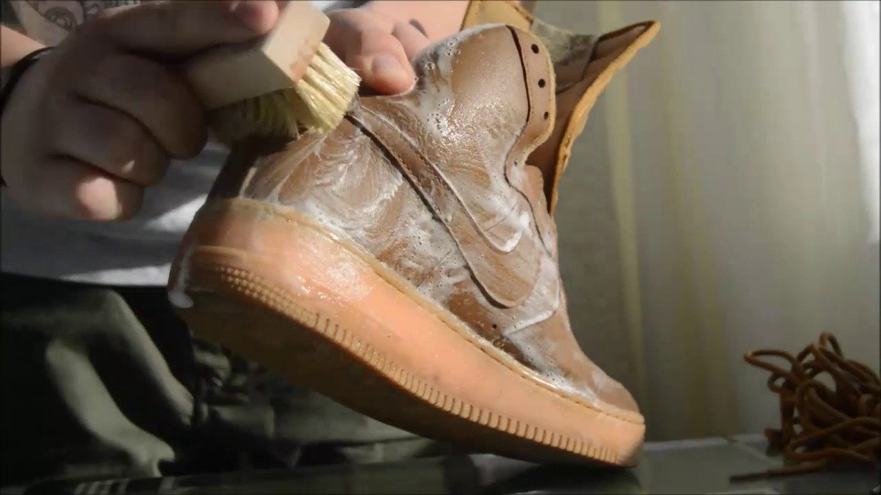 how to clean nike air force 1 flax