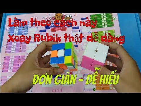 Xoay Rubik 2x2 3x3 cho người bắt đầu học   Hướng dẫn chi tiết xoay 1 mặt Rubik 2x2 3x3   Jimmy Tiên