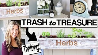 Upcycle Thrift Store Home Decor ⭐ DIY Makeover
