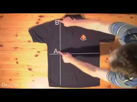 how to fold a shirt in one second