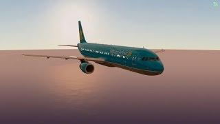 [HD] Infinite Flight Simulator Multiplayer Vietnam Airline  A321 takeoff KLAX runway 07R