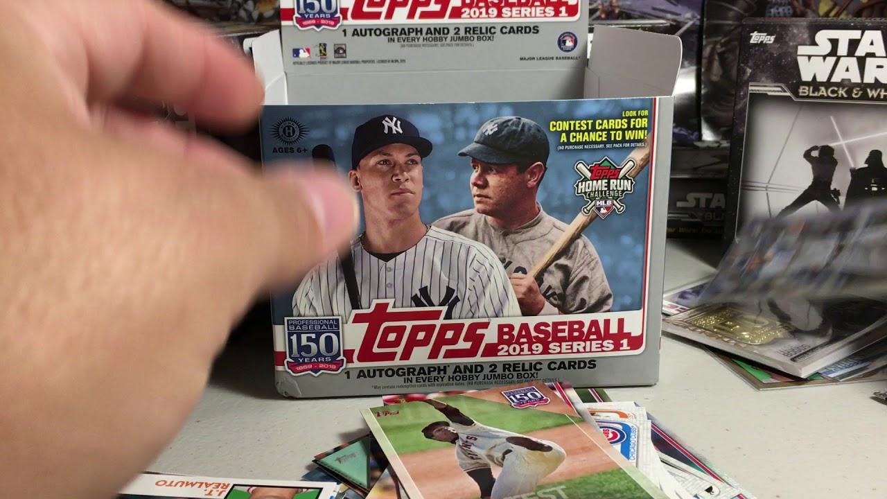 2019 Topps Baseball Cards Opening Series 9 Jumbo Hobby Box Of 2019 Topps Series 1 Very Nice