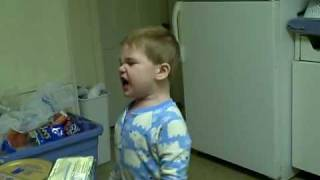 my 3 year old son jacob who has autism yelling