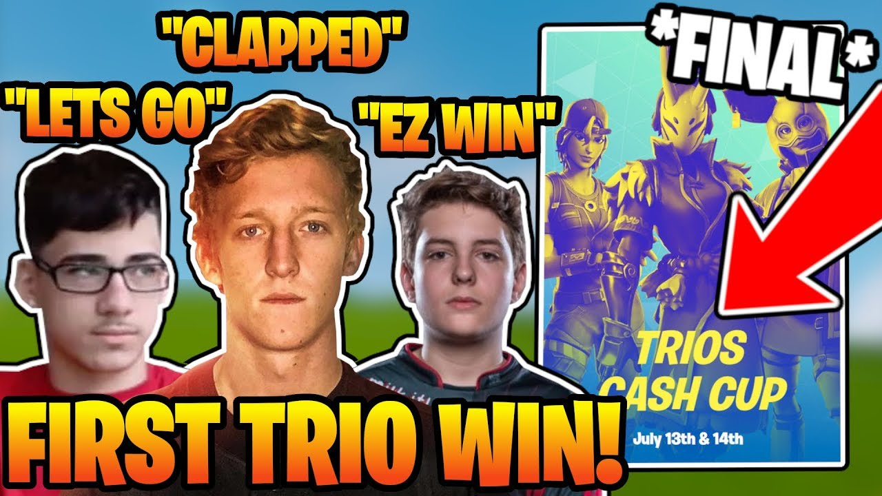 Tfue, Faze Sway And Clix *FIRST WIN* In Fortnite Trios ...