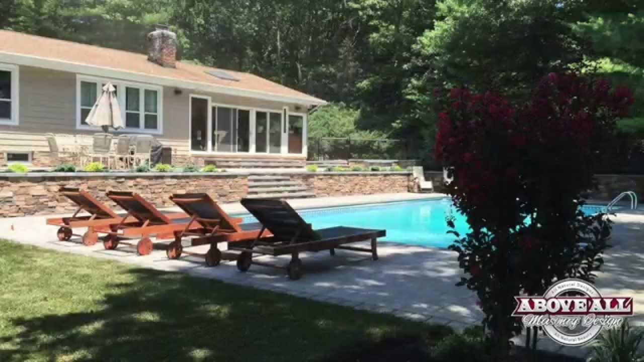 Our Long Island Pool PatiosAbove All Masonry YouTube - Long island pool and patio