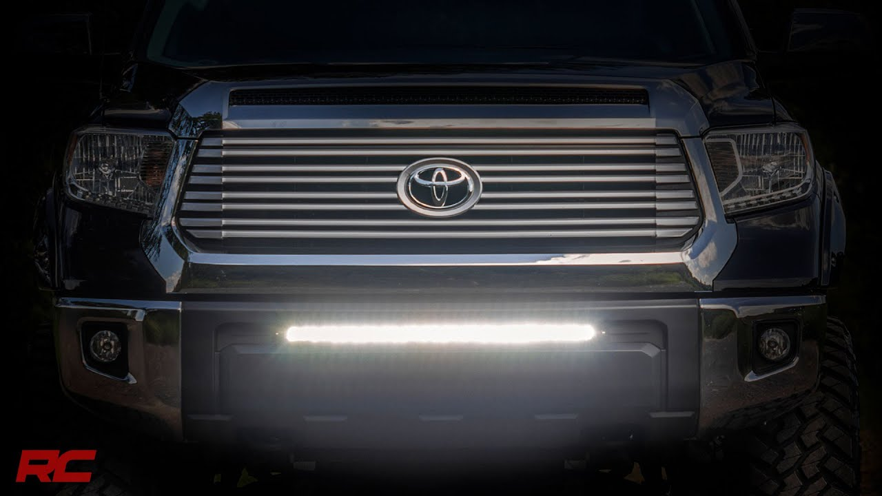 2014 2017 toyota tundra 30 inch light bar bumper mount kit by 2014 2017 toyota tundra 30 inch light bar bumper mount kit by rough country mozeypictures Image collections