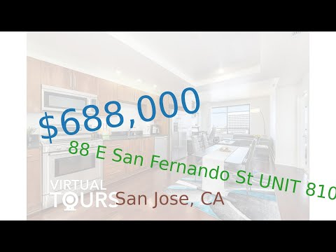 $688,000 San Jose home for sale on 2020-09-24 (88 E San Fernando St UNIT 810, CA, 95113)