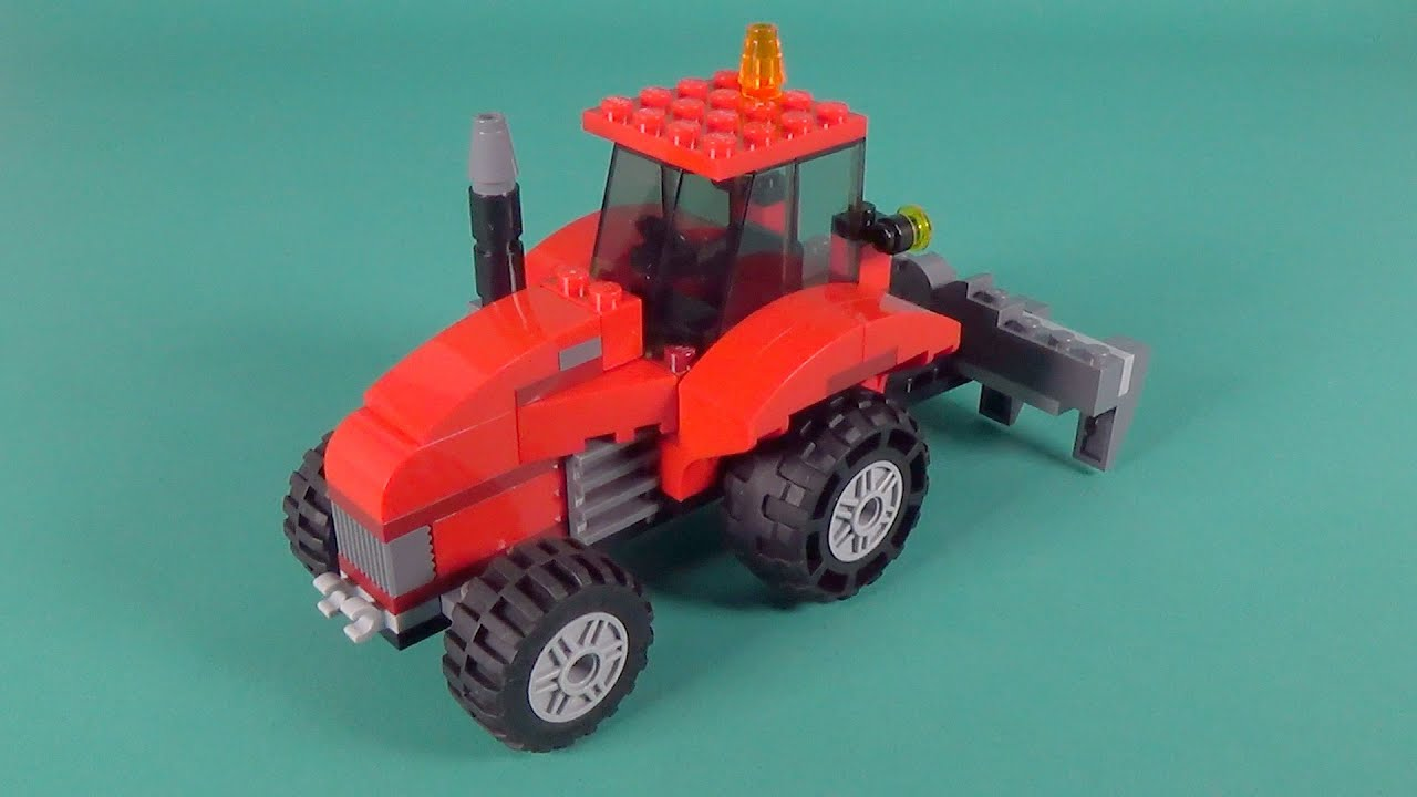Lego farm tractor building instructions lego classic for Lego classic house instructions