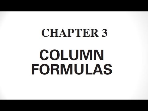 COLUMN  Formulas Civil Engineering book Chapter #3