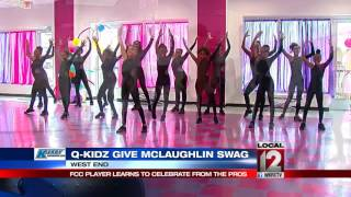 Video FCC's Jimmy McLaughlin gets some help with his dance moves from Q-KIDZ download MP3, 3GP, MP4, WEBM, AVI, FLV November 2017