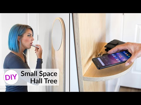 DIY Small Space MODERN Hall Tree