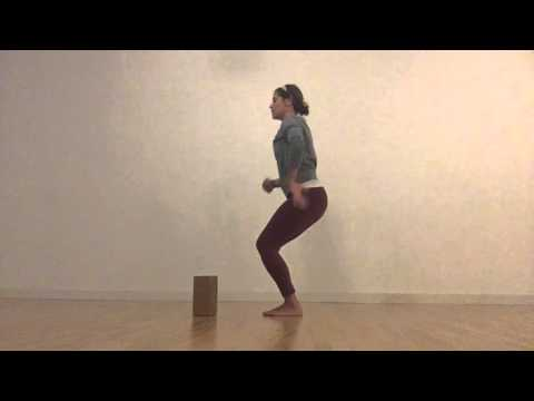 How-To-Yoga: A Chair Pose and a Toe Squat with a Twist
