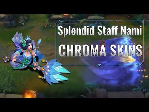 Splendid Staff Nami Chroma skins (League of Legends)