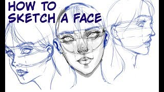 [MediBang] How to Sketch a Face Tutorial