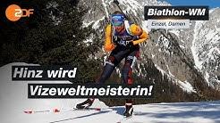 Biathlon-WM: Vanessa Hinz gewinnt Silber im Einzel | SPORTextra - ZDF