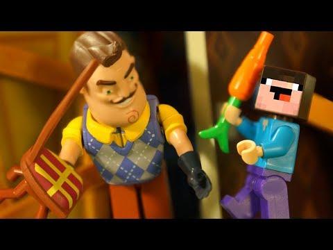 Лего ПРИВЕТ СОСЕД vs Nintendo Switch   Лего НУБик Майнкрафт   LEGO Minecraft Анимация