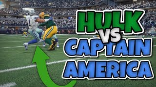 HULK VS CAPTAIN AMERICA - SOMEONE GETS DESTROYED!! Madden 18 Super Hero Series