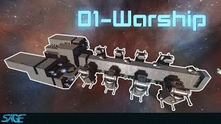 Space Engineers, D1-Warship (StarWars inspired & Modded)