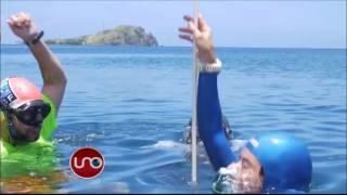 Sofía Gómez logró bajar 84 metros en el mar y regresar con vida a la superficie