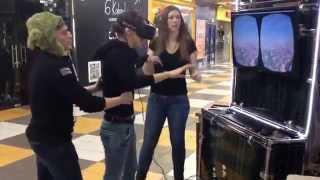 Смешная реакция девушки в окулус рифт - reaction to Oculus Rift(Девушка решила протестировать окулус рифт в СБС Мегамолл и вот что из этого получилось., 2015-11-21T11:21:51.000Z)
