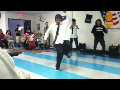 Oakland Charter High School Talent Show 2012:B-boying