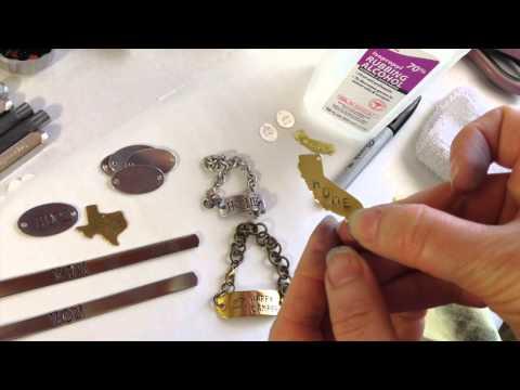 How to Darken Handstamped Jewelry