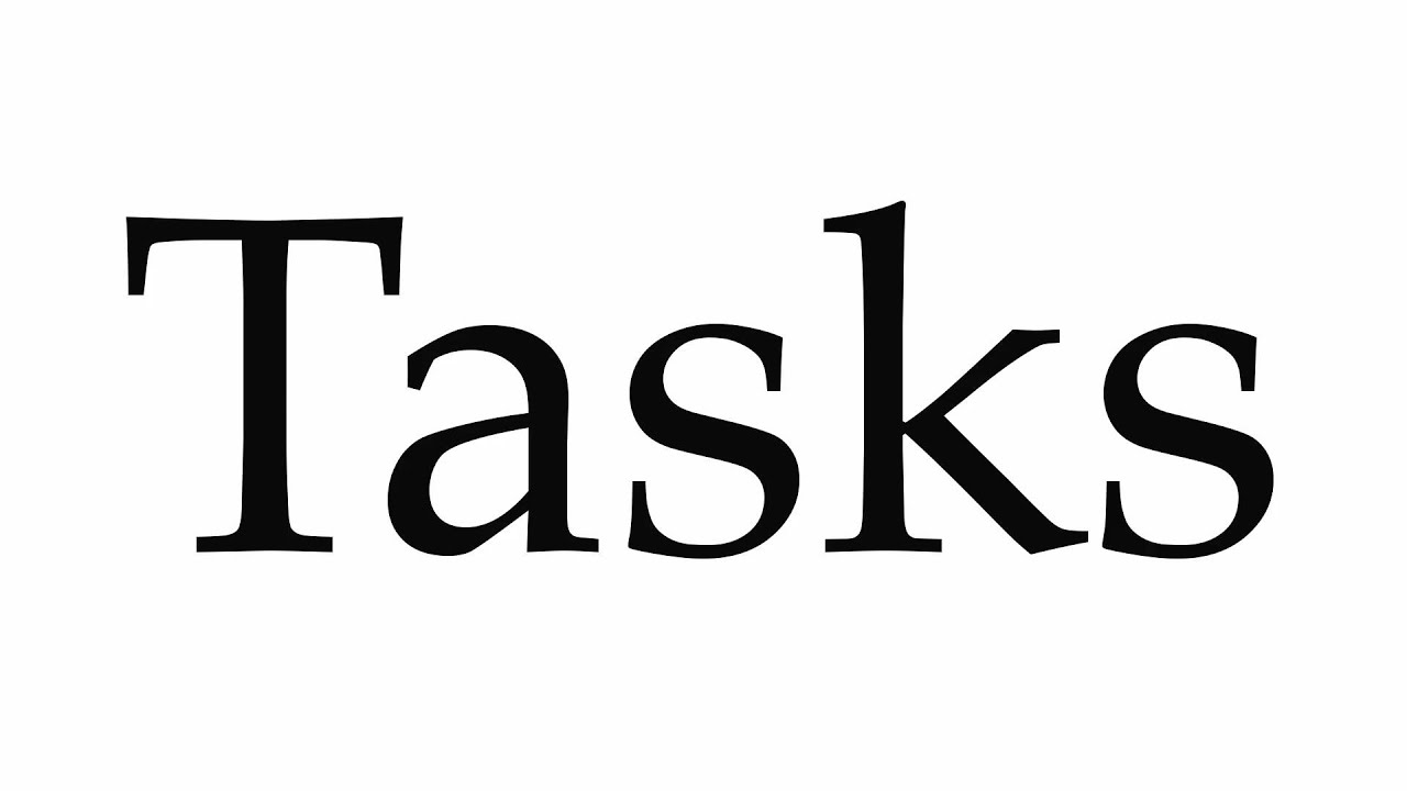How to Pronounce Tasks