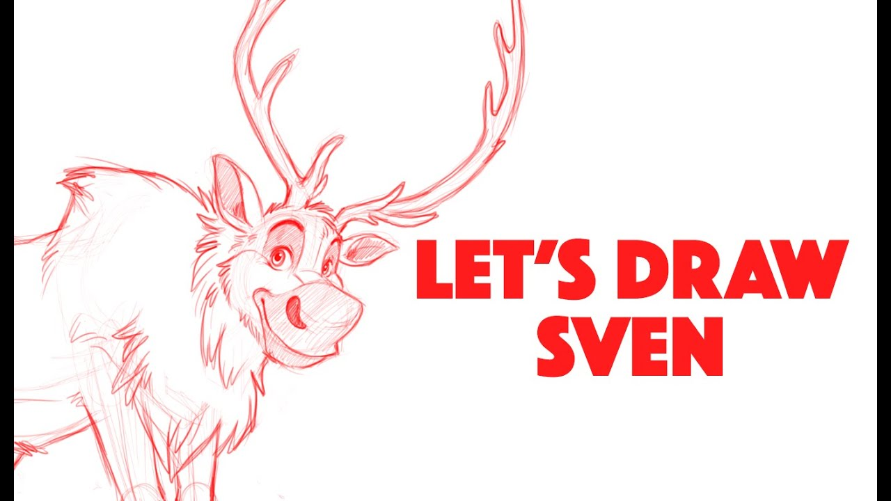 lets draw sven from disneys frozen youtube