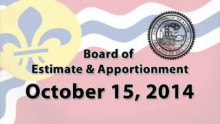 Estimate and Apportionment October 15, 2014