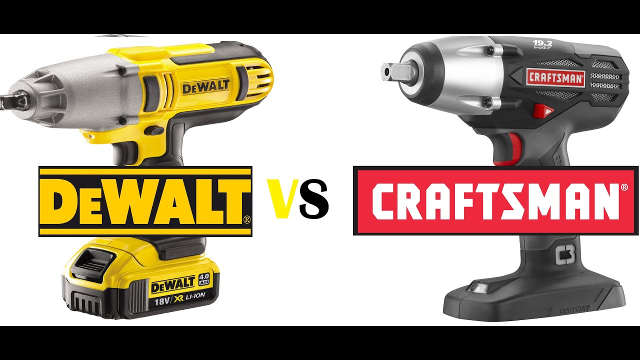 1 2 Inch Impacts Dewalt 20v Dcf889 Vs Craftman 19 2v C3