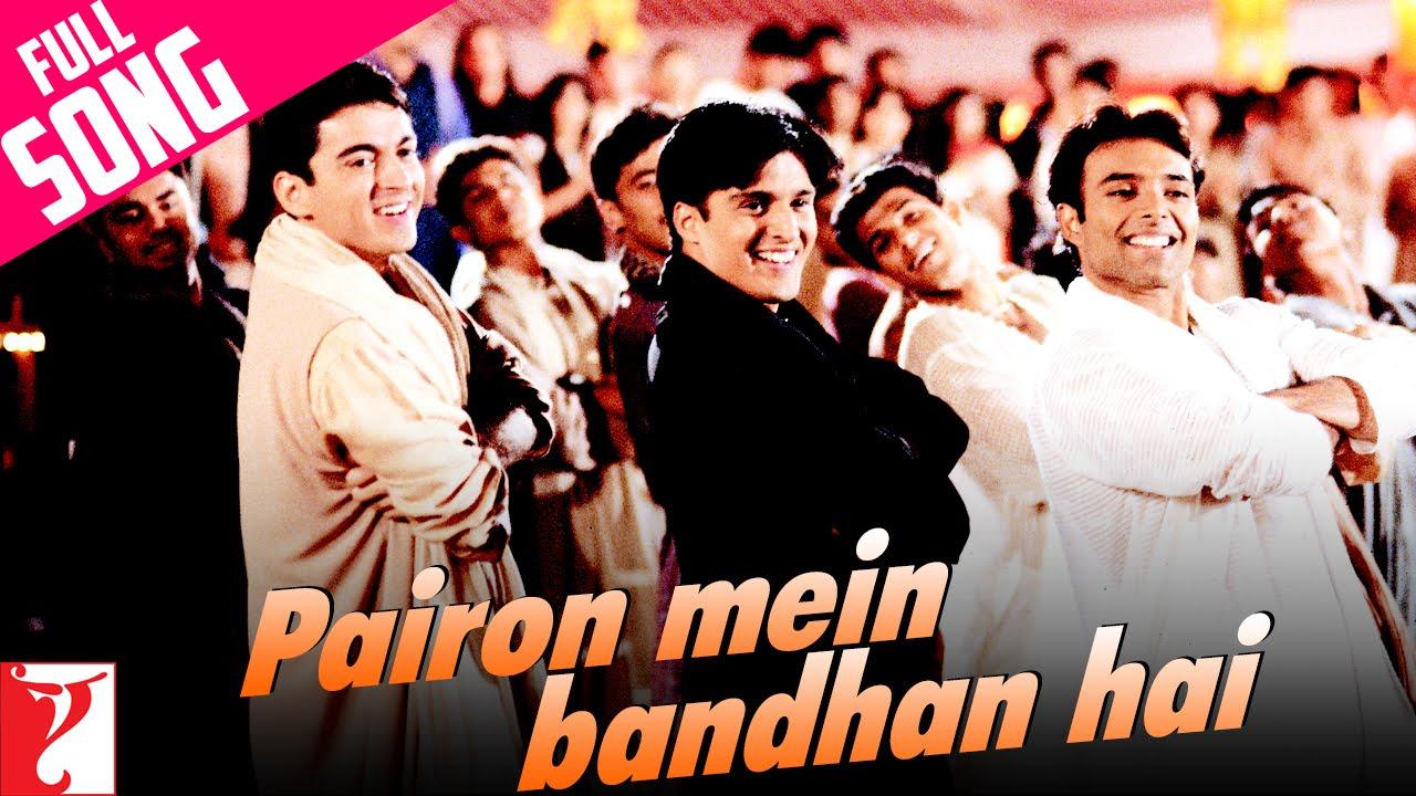 Pairon Mein Bandhan Hai Lyrics Translation Mohabbatein Hindi Bollywood Songs
