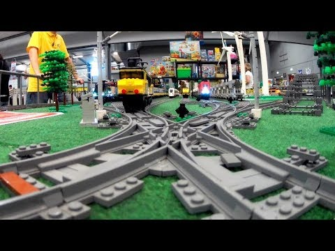 Mindblowing Trixbrix Layout Brickfeast 2019 Lego Train Youtube
