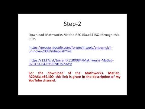 DownloadMatlab 2015a 64 bit and install it