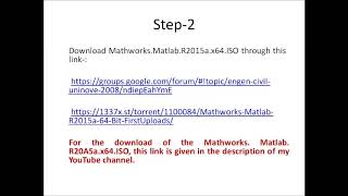 Download Matlab 2015a 64 bit and install it