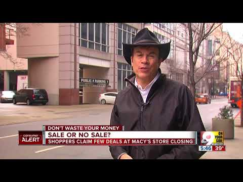Few deals so far at Macy's Cincinnati store closing sale