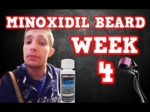 Minoxidil Beard | Week 4 | The Experiment |  #Facialfuzzfridays