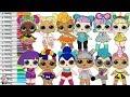 LOL Surprise Dolls Coloring Book Page Color Swap Compilation Unicorn VRQT Kawaii Queen
