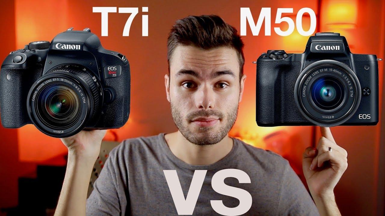 Canon M50 vs T7i (800D)