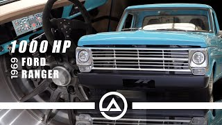 1000hp Procharged Ford F100 Shredding Tires