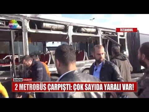 İki Metrobüs çarpıştı: Çok Sayıda Yaralı Var!