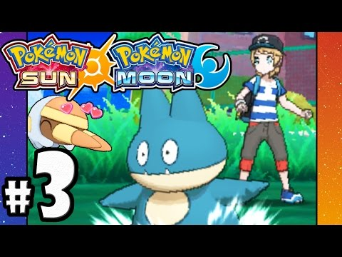 Pokemon Sun and Moon - 3DS Gameplay Walkthrough PART 3 - Event Munchlax - Rotom - School Battles