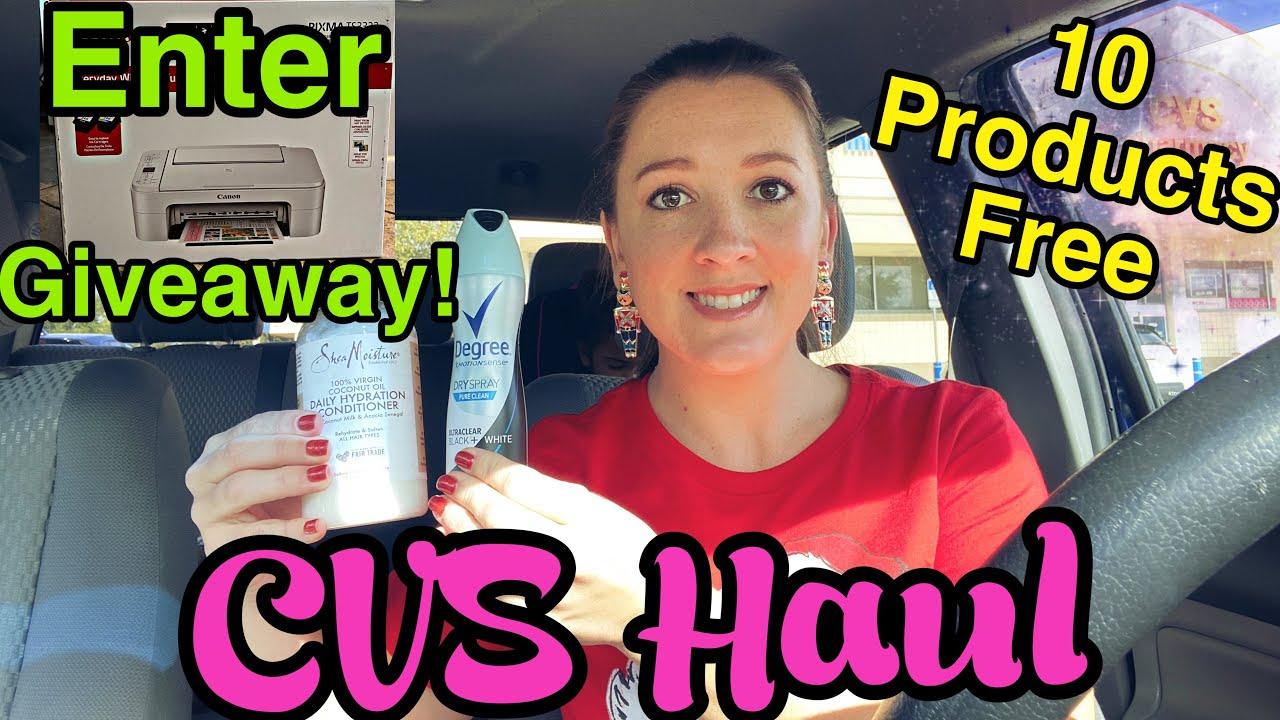 CVS Haul Enter Giveaway for Canon Printer!