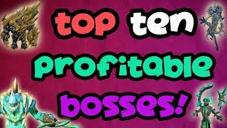 Runescape 3 - Top Ten Most Profitable Bosses! [2018]