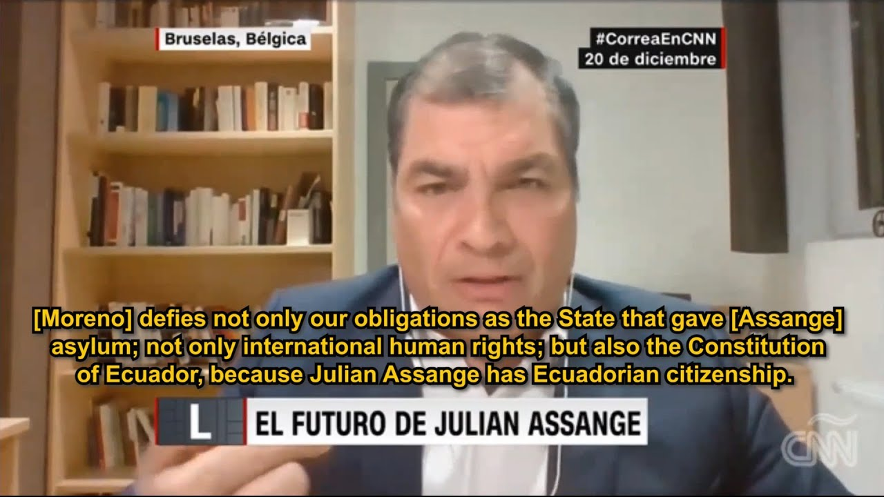 Raphael Correa on Lenin Moreno's illegal moves with Assange